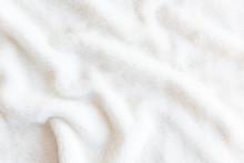White Delicate Soft  Background Of Plush Fabric