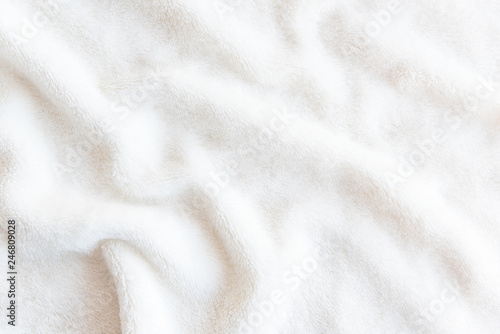Obraz White delicate soft  background of plush fabric - fototapety do salonu