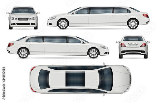 Photographie  limousine vector mockup for vehicle branding, advertising, corporate identity