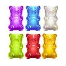 Gummy Bears. Colored Sweet Jel...