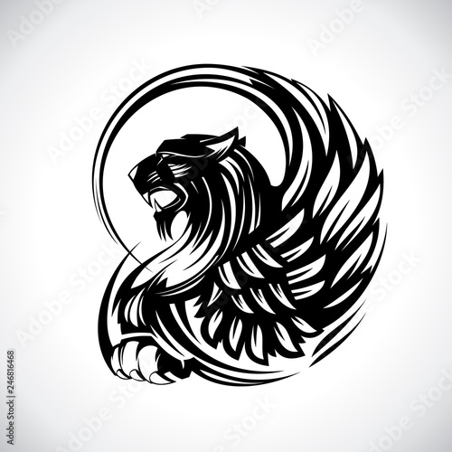 Griffin For Heraldry Or Tattoo Vector Design Buy This Stock Vector And Explore Similar Vectors At Adobe Stock Adobe Stock Download free tattoo vectors and other types of tattoo graphics and clipart at freevector.com! heraldry or tattoo vector design