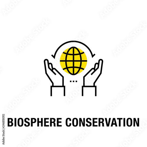 Fotografía  BIOSPHERE CONSERVATION ICON CONCEPT