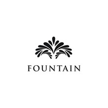 Water Squirt Fountain Logo Design Inspiration