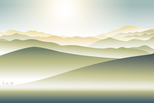 Mountains Landscape With Lonel...