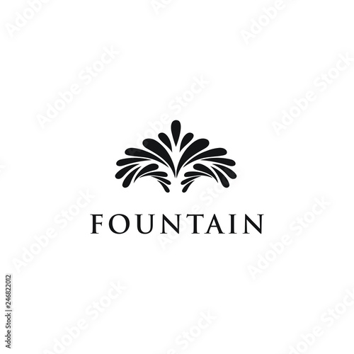 water squirt fountain logo design inspiration Canvas Print