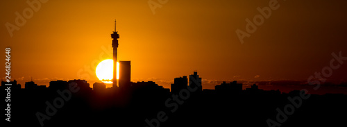 Johannesburg skyline sunrise