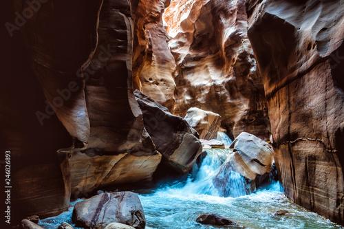 Fototapeta Wadi Mujib Jordan Dead Sea