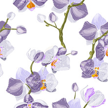 Vintage Background. Wallpaper.  Hand Drawn. Vector Illustration. Paradise Flowers. Realistic Isolated Seamless Flower Pattern.