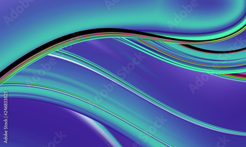 Beautiful modern wave for art projects, cards, business