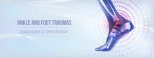 Horizontal Ankle And Foot Traumas Banner For Social Media