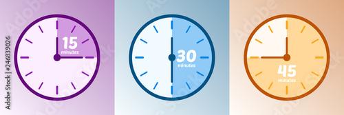 Fotomural  Minuteur - Temps 15, 30 et 45 minutes