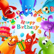 Happy Birthday Illustration Wi...