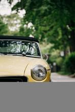 Parked Vintage Car In Summer