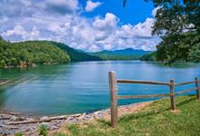 Fence Along Hiwassee Lake, Murphy NC