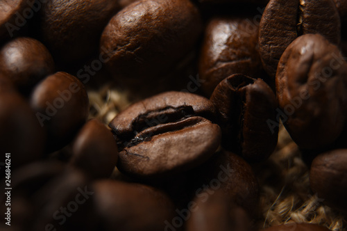 Wall Murals Cafe Close up of coffee beans