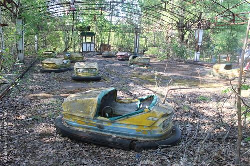 Poster Retro Pripyat bumper cars Chernobyl exclusion zone