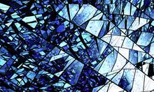Abstract Broken Glass, Splinters. 3D Illustration, Computer-generated Fractal