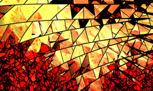 Abstract Broken Glass, Splinters For Card, Art Projects, Business, Template, Banners. 3D Illustration