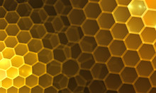 Beautiful Background With Hexagon For Card, Art Projects, Business, Template, Banners. 3D Illustration