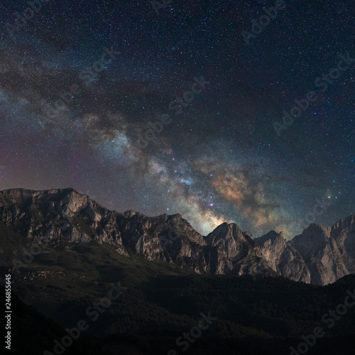 Photographie  Galaxy on the mountains