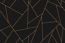 Mosaic Black And Gold Background