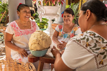 Women Making Tortillas. Group ...