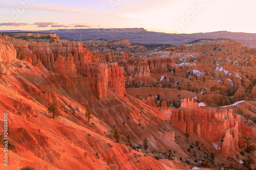 Photo Stands Cuban Red Winter Sunrise at Bryce Canyon Utah