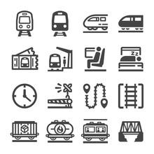 Train Icon Set,vector And Illustration
