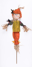 Scarecrow Isolated On White Background
