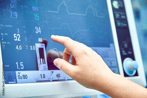 Fotografie, Obraz  Monitoring patient's vital sign in operating room