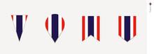 Thailand Flag In Vertical Design, Vector Illustration