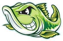 Largemouth Bass Cartoon