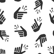 Finger Snap Icon Seamless Patt...