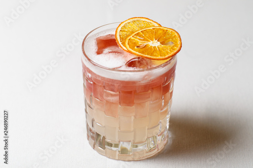 Obraz na plátne Coctail that contains liquor mint strawberry and other, vodka and martini, fresh