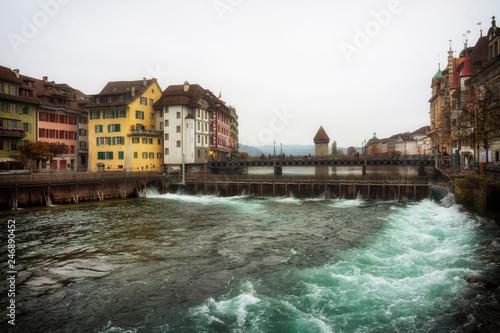 In de dag Centraal Europa Stadt Luzern