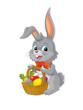The Happy Easter Rabbit With B...