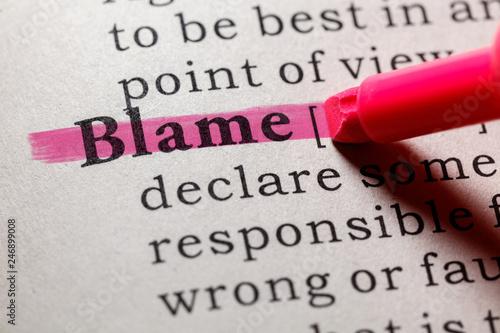 Fotografia definition of blame