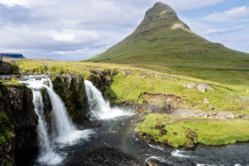 Kirkjufellsfoss and Mountain - Iceland