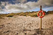Life Saver On Post At Beach