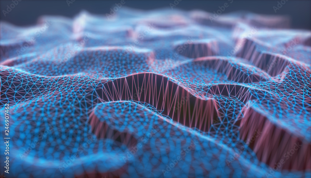 Fototapeta Cloud Computing Abstract Background Network Connection