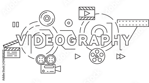 Valokuva  Videography and Videographer Theme Illustration