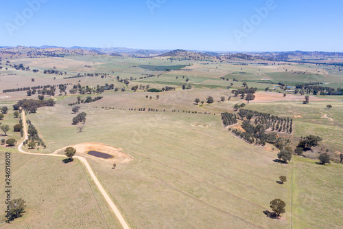 Poster Oceanië Cowra - aerial view of agricultural land - Cowra NSW Australia