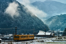 A Japanese Train Running In Th...