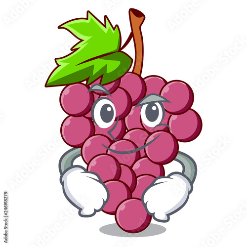 Wall Murals Bestsellers Smirking red grapes fruit isolated in character