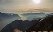 OLYMPUS DIGreat landscape at Iseo lake in winter season, foggy an humidity in the air. Panorama from Monte Pora, Alps, ItalyGITAL CAMERA