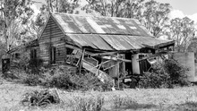 Weathered And Falling Down Australian Shack