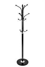 Black Metallic Coat Rack, Isolated On White Background