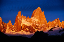 Sunrise At Fitz Roy In Glacier...