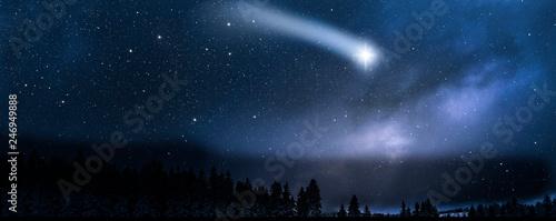 Obraz Shooting star in Sky - fototapety do salonu