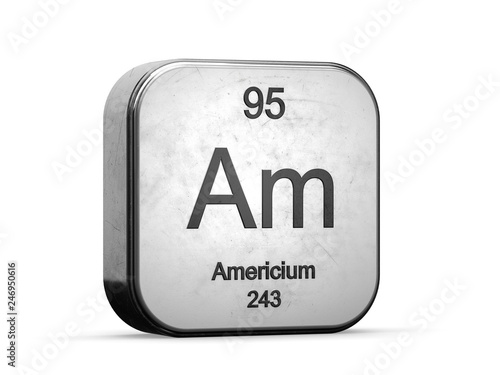 Americium element from the periodic table series Wallpaper Mural